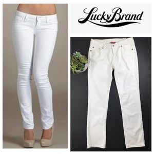 Lucky Brand White Picket Fence Low Rise Jeans